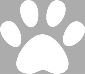 6PCS 4 DOG PAW FOOTPRINT VINYL WALL CAR DECAL STICKER