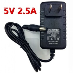 (Lot of 36) 5V 2.5A 5.5x2.1mm AC/DC Wall Plug Power Supply Converter Adapter